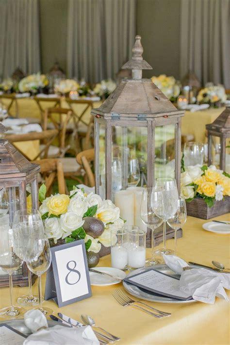 decoration de mariage jaune  gris tendance boutik