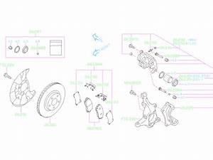 2018 Subaru Crosstrek Disc Brake Rotor  Front