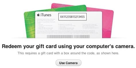 redeem  itunes gift card   camera