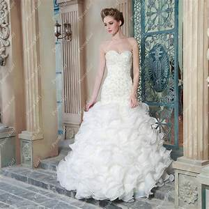 pearl beading princess mermaid wedding dress sweetheart With wedding dress with ruffles on bottom