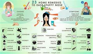 23 Home Remedies To Ease Stuffy Nose - Home Remedies