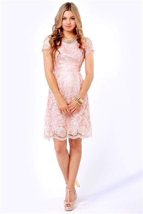 light blush pink dress pretty blush pink dress lace dress backless dress
