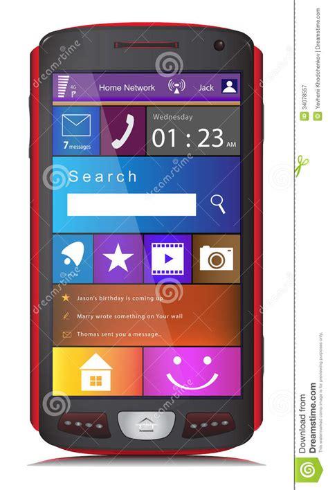 mobile phone  metro interface royalty  stock