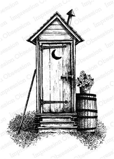 victorian outhouse sketch   wood burning art