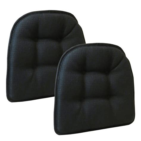 the gripper non slip omega tufted chair cushions set of 2