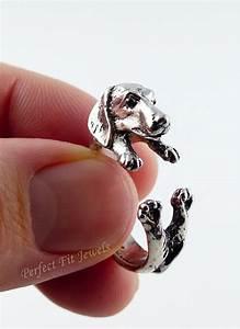 dachshund dog ring cute wrap ring