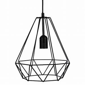 Lustre Metal Noir : suspension filaire noire en m tal atmosphera ~ Teatrodelosmanantiales.com Idées de Décoration