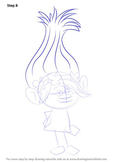 trolls nose templates learn how to draw princess poppy from trolls trolls step
