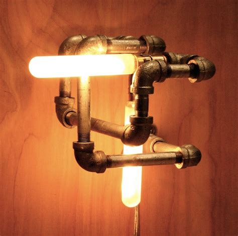 industrial knot pipe light fixture