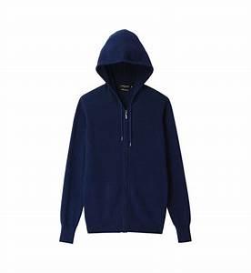 Veste zippée à capuche en cachemire Galeries Lafayette en ...