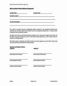 Settlement and release sample templates samples and for Car accident settlement document