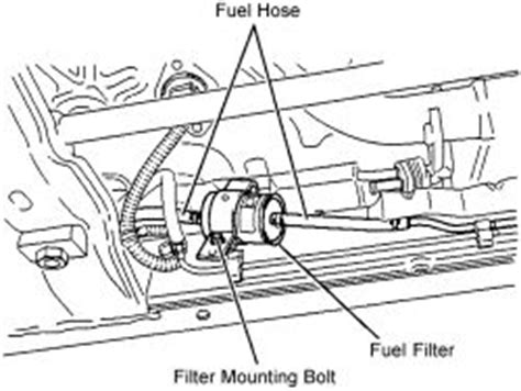 repair guides fuel filter removal installation