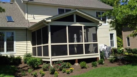 screened porch patio and pit custom designed by