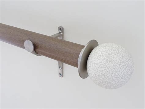 shabby chic wooden curtain pole weathered oak made to