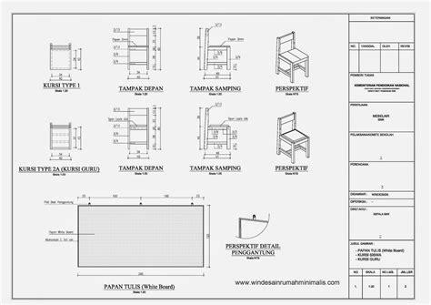 standar desain meja kursi sekolah desain rumah minimalis