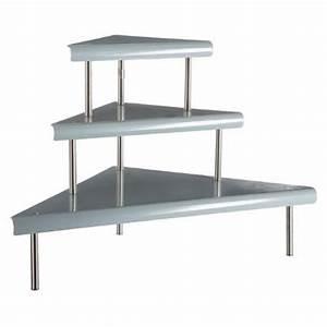 Etagere En Angle : tag re d 39 angle en m tal 67cm gris ~ Teatrodelosmanantiales.com Idées de Décoration