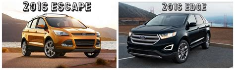 differences   ford escape   ford edge