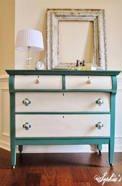 Two Tone Kitchen Cabinet Ideas - colorful diy dressers that pack a punch