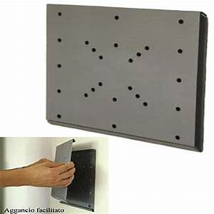 Staffa a parete per TV LCD attacco vesa 200 piastra fissa filo parete per TV DA 14 a 42 pollici