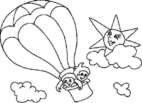 Hot Air Balloon Clipart Blank