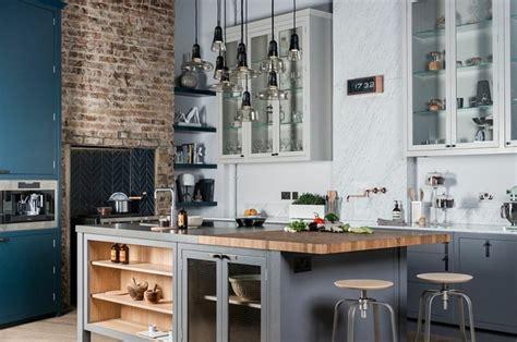 cuisine style industrielle cuisine style industriel luminaires design cuisine idee ideeco