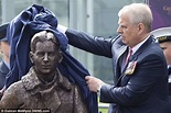 Prince Andrew unveils a new statue of Captain Eric 'Winkle ...