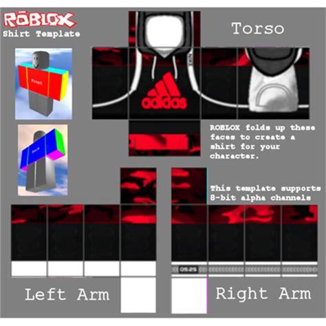 Black Red Zipper Roblox Shirt