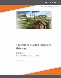 Arris Tg3482er3 Wireless Telephony Gateway User Manual