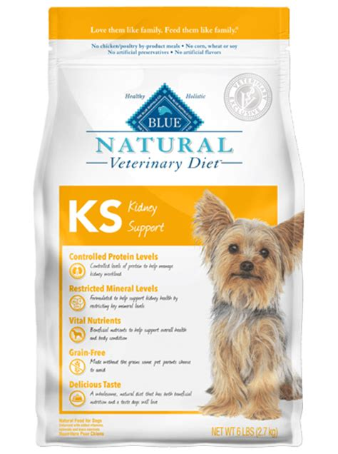 blue natural veterinary diet ks kidney support dry dog