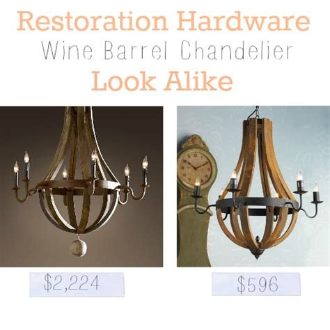 wine barrel chandelier restoration hardware images