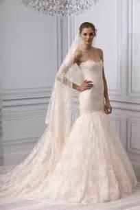 pink wedding dresses 2013 wedding dress lhuillier bridal gown lace mermaid blush pink onewed