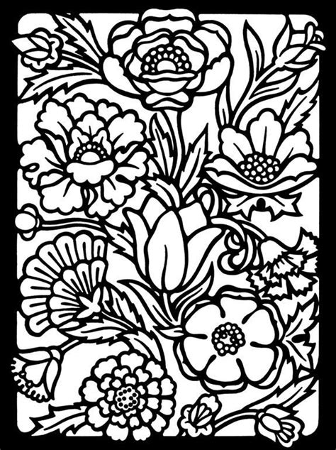 Read moreStained Glass Coloring Pages Of Flowers For Adults | Flower coloring pages, Coloring