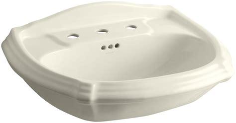 kohler pedestal sink mounting bracket kohler k 2222 8 47 almond portrait 22 quot pedestal bathroom