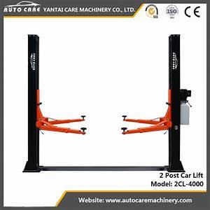 China 2 Post Car Lift Floorplate Auto Hoist Manual Release