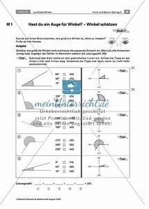 Winkel Messen Ohne Geodreieck : lerntheke zu winkeln winkel sch tzen zeichnen messen und benennen meinunterricht ~ Orissabook.com Haus und Dekorationen