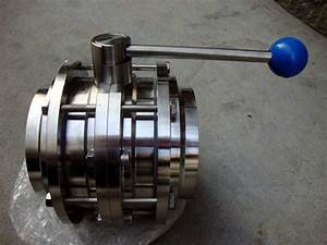 China Sanitary Stainless Steel Threaded Butterfly Valve