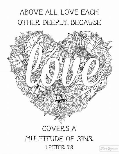 Coloring Pages Each Bible Sheets Verse Deeply