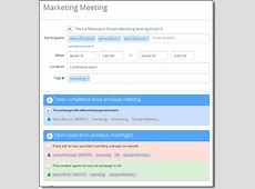 followup meeting Meeting Agenda & Meeting Minutes Software