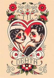 Rockabilly Heart Tattoo Clipart