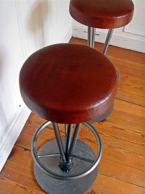 assise cuir tabouret de bar style and steel jpg chaises tabourets les luminaires