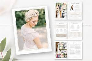 21 photography magazine templates to promote your business for Wedding photography magazine template