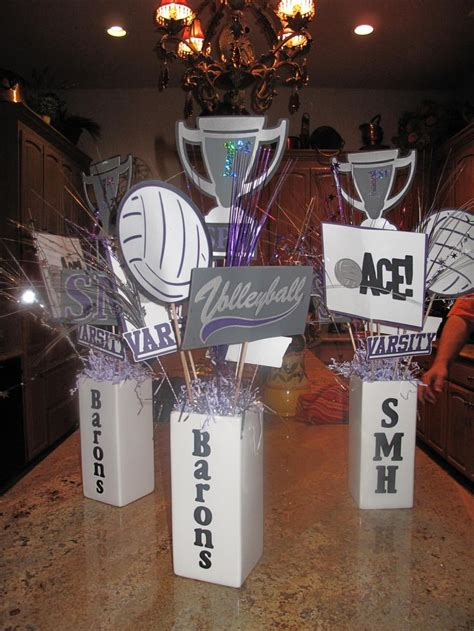 volleyball centerpieces   cricut volleyball gift