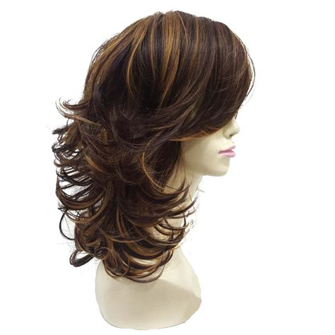 StrongBeauty Women's wig Auburn Layered Medium Curly