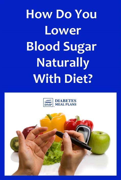 blood sugar naturally  diet