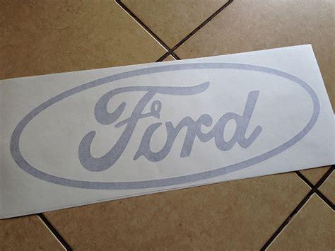 custom  ford logo vinyl decals  paint stencils