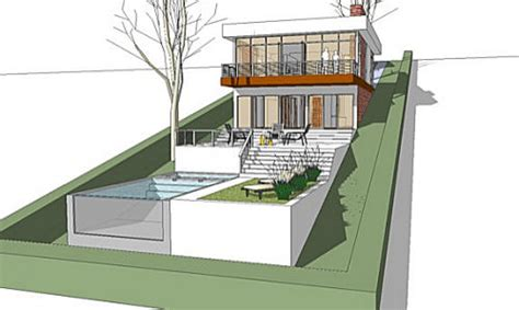 slope house plans the architectmodern house plan for a land with a big downhill slope the architect
