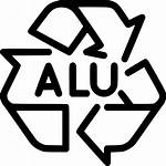 Icon Aluminum Alu Recycle Recycling Svg Icons