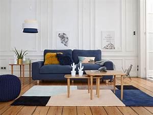 des idees pour un salon en bleu et rose joli place With idee deco cuisine avec deco style scandinave pas cher
