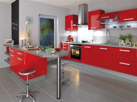 cocinas rojas  fotos  ideas de tonalidades