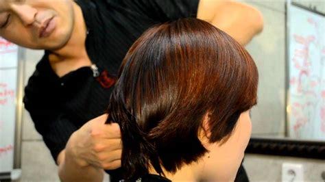 lady haircut   nape area   shorter hair youtube